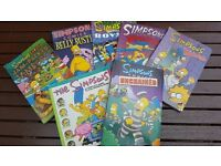 Calling All Simpsons Fans! Collection of 7 Simpsons Comic Books and 27 Comics