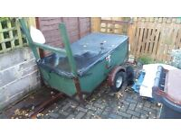 WOODEN TRAILER WITH WATERPROOF COVER & REAR H FRAME