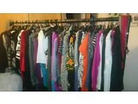 Over 138 items women's clothes all different sizes for sale from a pet free smoke-free home