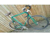 PUCH vintage road bike XL frame green newly serviced