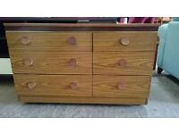 Wheeled chest of 6 drawers