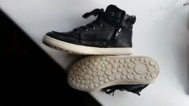 Boys Next Hightops Black size 12. Ideal for Back to school