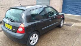 Renault Clio 1.2 16v Dynamique (2003) - Full MOT - Low Mileage - 72K - Black