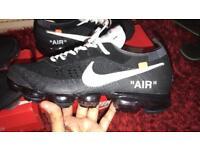 Nike air vapormax x off white (black & white)