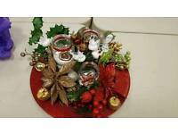 Beauful Christmas candle arrangement