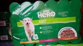 Asda hero dog food x24 400g tins