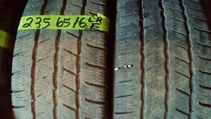 Two Continental LT 235 65 16 winter tires