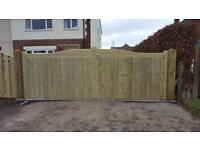 Timber Entrance / Driveway Gates. Made to measure many different designs available.