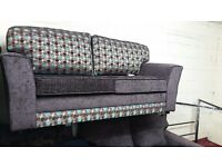 MIAMI HAND MADE 3+2 FABRIC SOFA IN HIGH QUALITY SPRING BASE AND FIRM FOAM SEATS BRAND NEW £349
