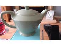 Woods Beryl ware green teapot