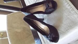 Black Peep Toe size 7