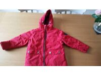 Next red fleece lined winter coat 4 years.