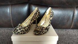 Leopard Print Open Toe Shoes
