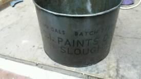 Vintage oil tub garage metal tub