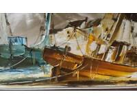 Bill hawkes oil painting on board by recognised artist