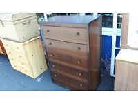Tall Retro Chest of Drawers