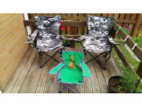 SET OF 3 CAMPING CHAIRS