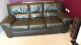 Leather sofa 3+2+stool