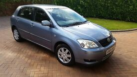 Toyota Corolla Colours Collection 2004 1.6vvti 5 door 5 speed manual Neptune Blue One Owner