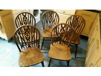 Solid wood dinning chairs
