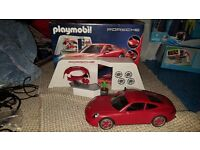 Playmobil porsche set with box like new