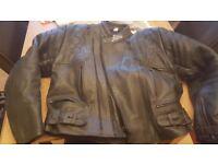 Bargain!! - Black Leather Buffalo Armoured Motorcycle Jacket