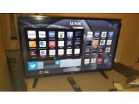 "Luxor 32"" smart WiFi Led tv Freeview hdmi usb YoutubeNetflix With Box Almost new"