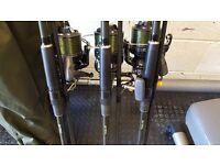 Century ncs rods ,Shimano c14 14000,Nash r3 alarms & more