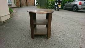 Coffee table with shelves. Very sturdy