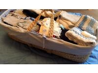 Baby Boys Clothes Bundle 0-3 with Moses Basket