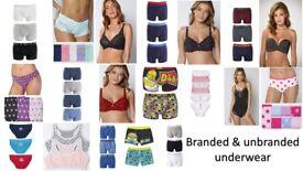 JOB LOT/ BULK/ WHOLESALE - Underwear - Bras - Knickers - Boxers