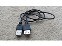 Male to Female USB Extension Cable / Lead. approx. 55cm long. Borehamwood, Hertfordshire