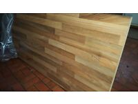 Beech woodblock effect kitchen worktop, 3m long. Brand new, never used