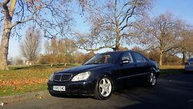 Mercedes S500 ,black metalic, automatic, fully loaded ,1 year Mot, leather seats, xenon, satnav,dvd