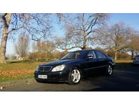 Mercedes S500 ,black metalic, automatic, fully loaded ,1 year Mot, leather seats, xenon, satnav,dvd