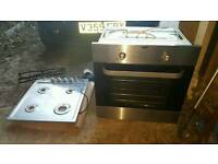 brush chrome oven and hob