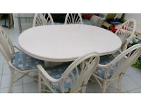 Conservatory dining table and chairs