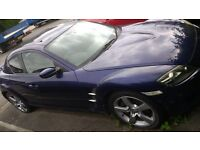 2004 Mazda RX8 231 6 speed manual - personal plate - spare or repair