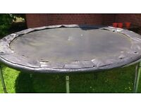 Plum Trampoline with spare springs and ladder
