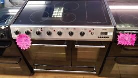 BELLING 90CM CEROMIC TOP ELECTRIC RANGE STYLE COOKER