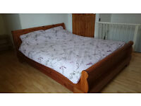 King-size bed and mattress