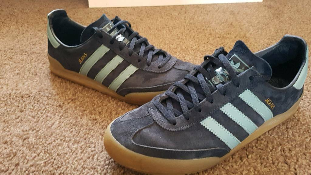 super cute 0b9bc 9b0ff Adidas Originals Jeans mk2 mens trainers. Navy Blue Suede size 9.5