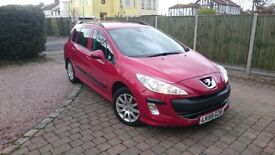 2009 PEUGEOT 308 SW SR 1.6 DIESEL ESTATE ONLY DONE 42K MILES ONE OWNER