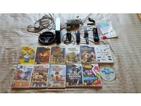 Nintendo wii black edition with 12 games