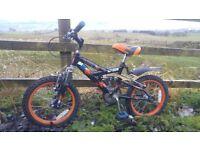 Raleigh boys bike 16 inch MX16 FS mountain bicycle MX16FS