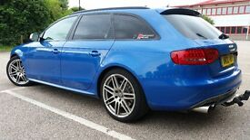 Stunning Audi S4 3.0 TFSI Avant 6 speed manual Sprint Blue, High Mileage but excelant condition