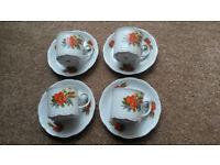 4 lots of trio of cups, saucer and side plate MITTERTEICH Bavaria (12 piece set)