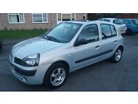 1.2 renault clio 5 door 2004 petrol manual 103000 mile history mot 7/3/18 hpi clear 3 month warranty