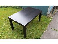 ikea large lack coffee table black/brown