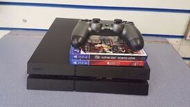 SONY PS4 PLAYSTATION 4 500GB WITH 3 GAMES 1 CONTROLLER & RECEIPT